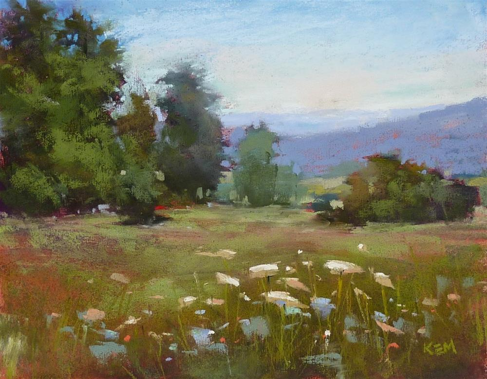"""Choosing the Right Pastel for Distant Mountains"" original fine art by Karen Margulis"