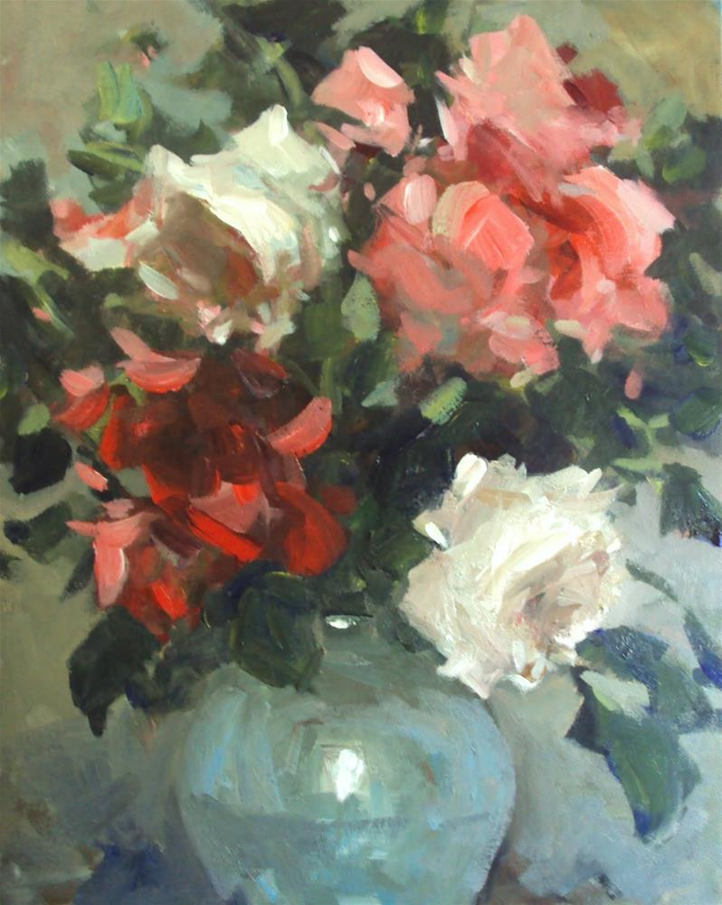 """fresh from the hedge"" original fine art by Parastoo Ganjei"