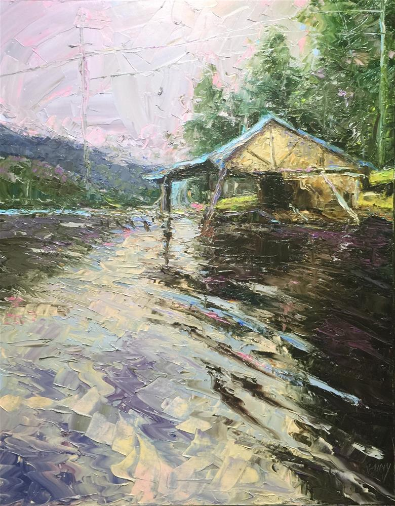 """Old Boat House"" original fine art by Jenny Buckner"