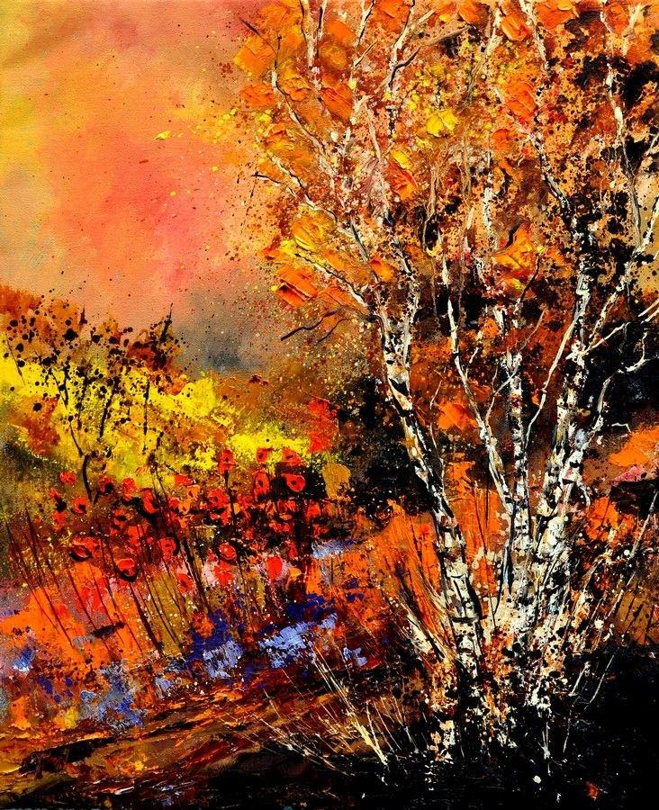 """""""Autumn 672180"""" original fine art by Pol Ledent"""