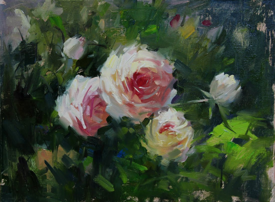 """""""Rose study series"""" original fine art by Fongwei Liu"""