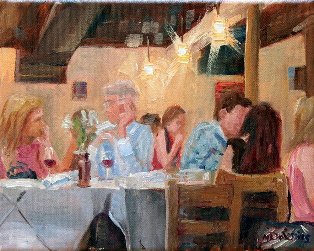 """Time to talk"" original fine art by Miranda Dalessi"
