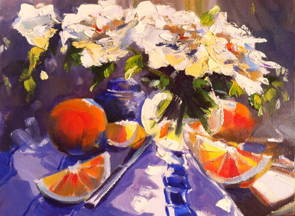 """FRENCH ORANGES"" original fine art by Cecilia Rosslee"