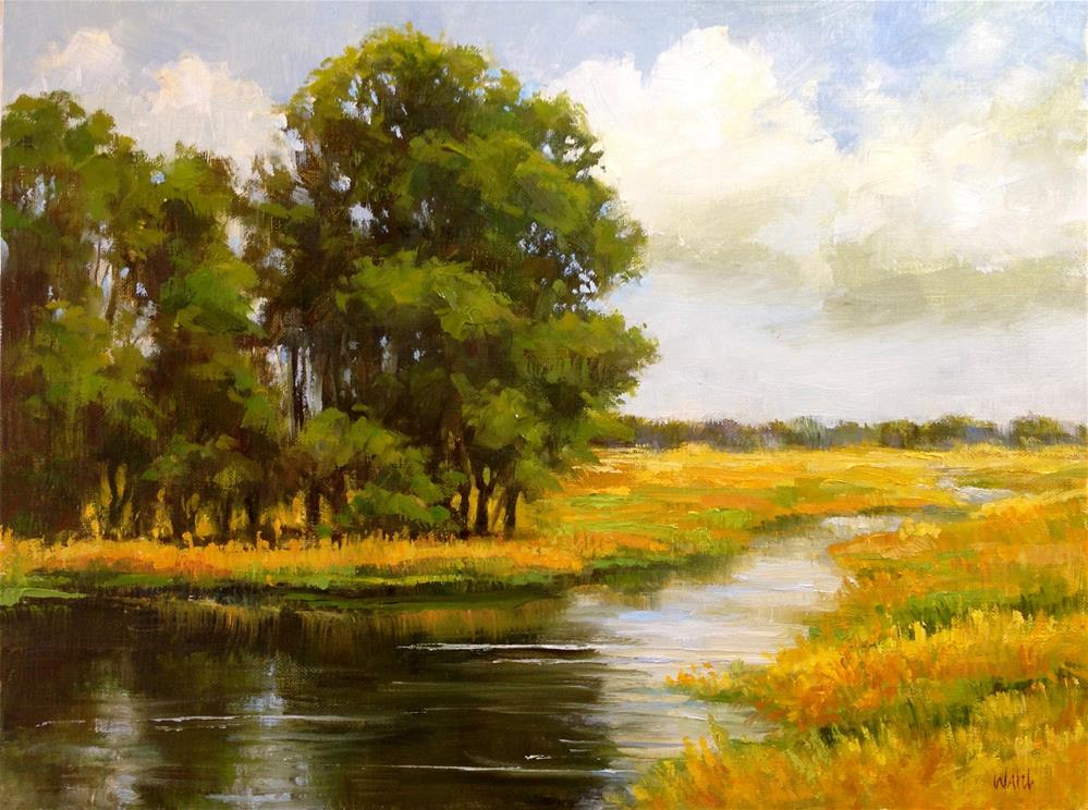 """Summer Afternoon"" original fine art by Nancy Wahl"