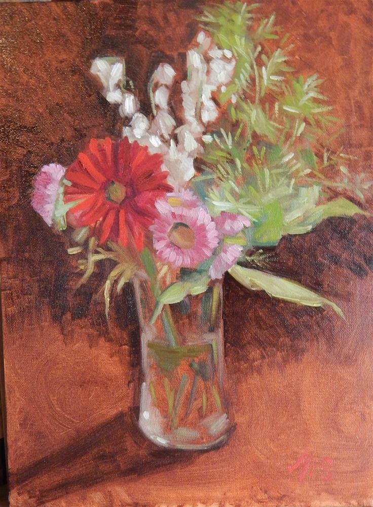 """Vase of Flowers"" original fine art by Megan Schembre"