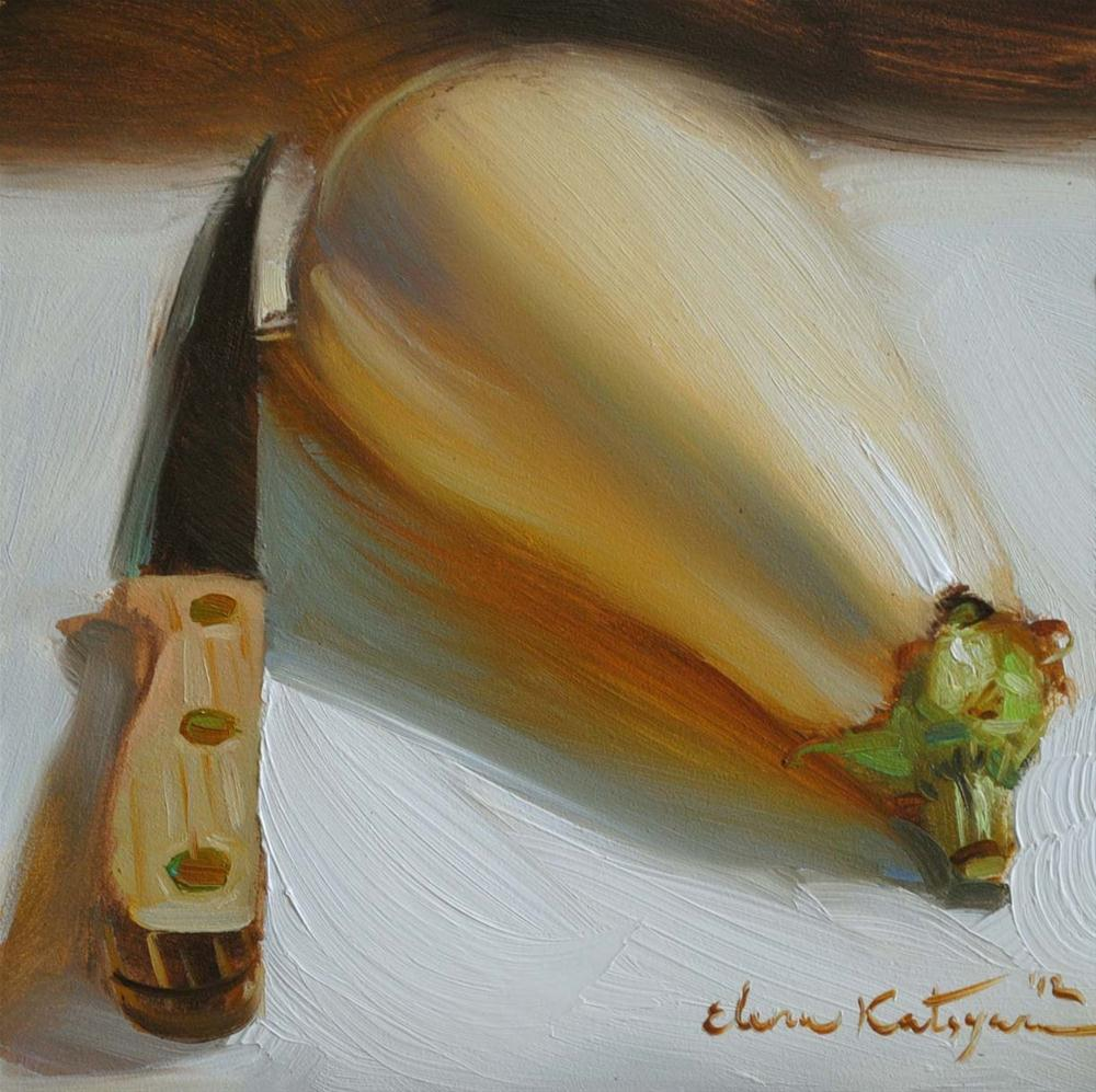 """Eggplant Delight"" original fine art by Elena Katsyura"