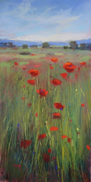 """Inspiration from a Poem Poppies #2"" original fine art by Karen Margulis"