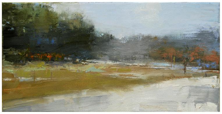 """""""Last snow on the fields #2"""" original fine art by Steven Goodman"""