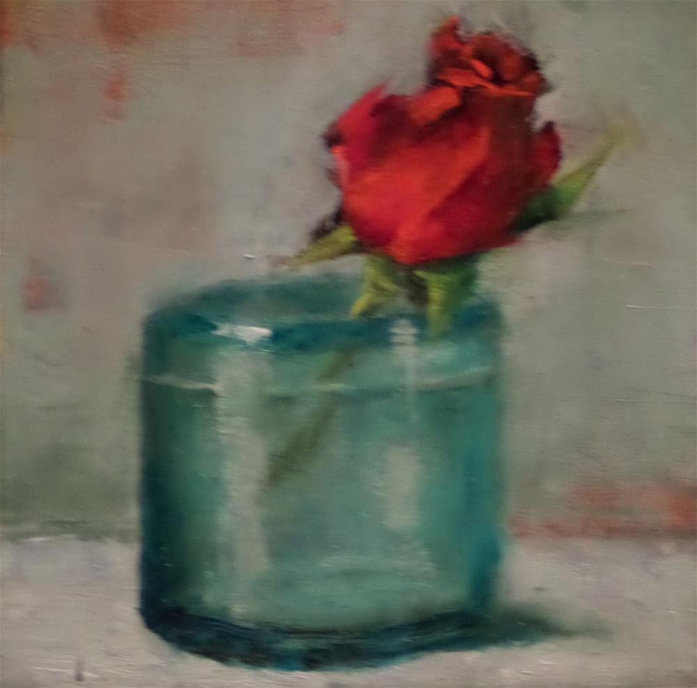 """THIS BUD'S FOR YOU"" original fine art by Kris Stewart"