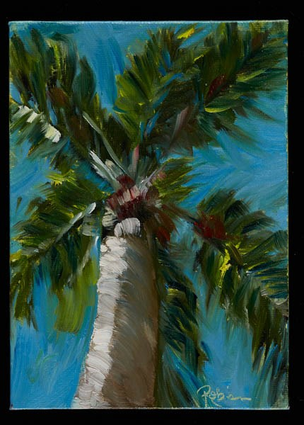 """Florida Palm #2"" original fine art by Renee Robison"