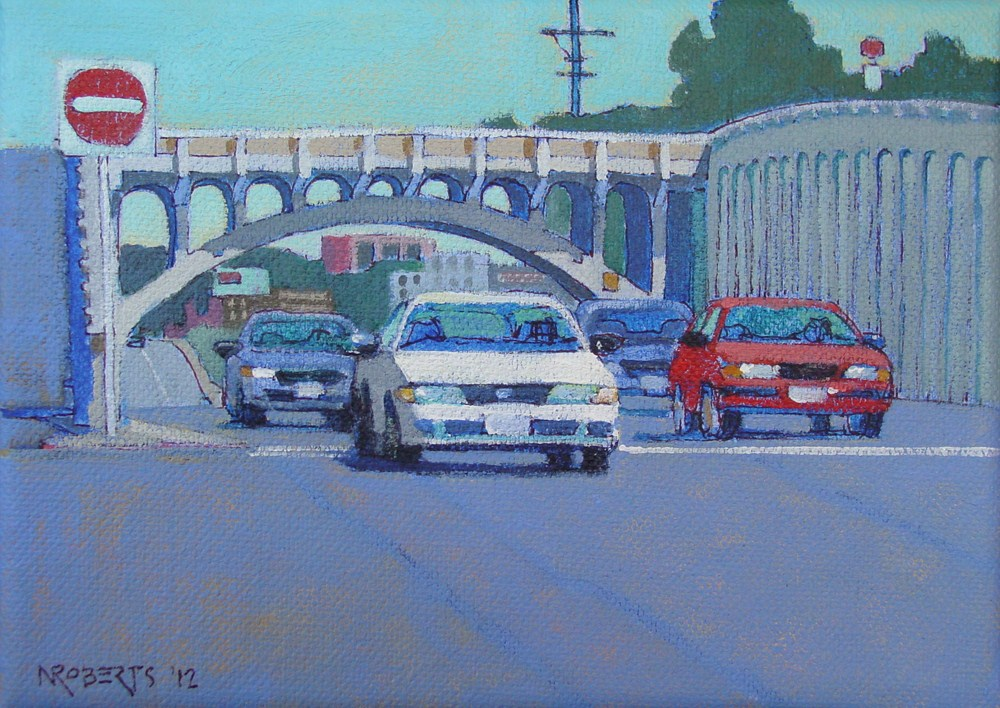 """Georgia Street Bridge"" original fine art by Nancy Roberts"