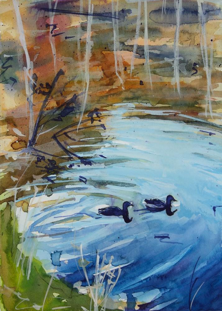 """Ducks"" original fine art by Chris  Breier"