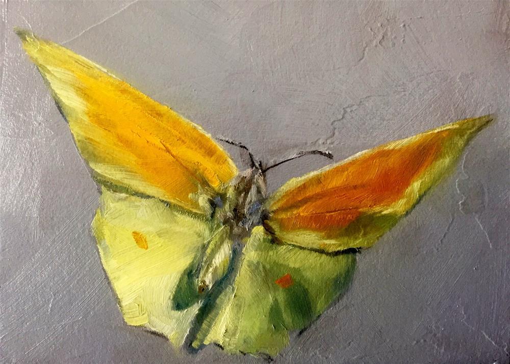 """Yellow Butterfly"" original fine art by Gary Bruton"