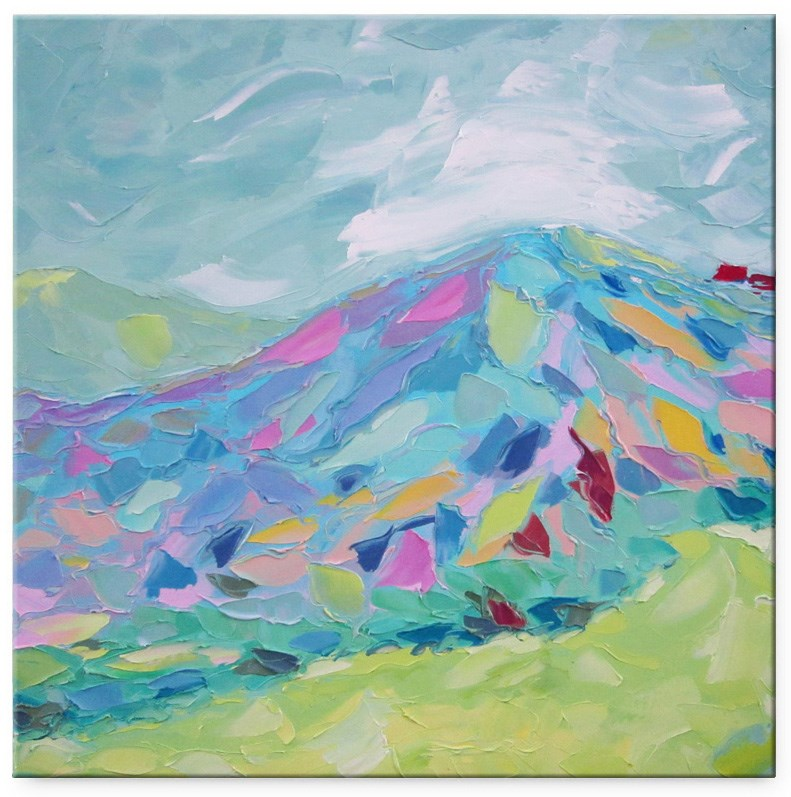 """Rainbow mountain"" original fine art by Elena Lunetskaya"