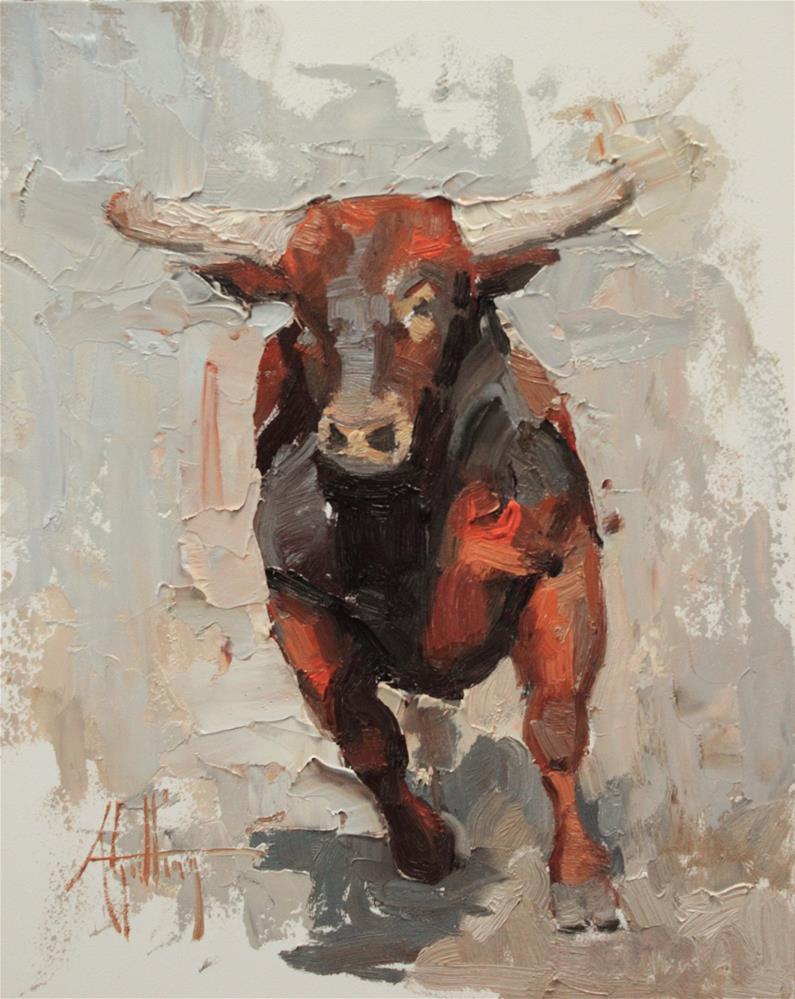 """Bull Study #2"" original fine art by Abigail Gutting"