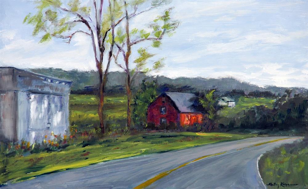 """""""Country Road, Virginia"""" original fine art by Shelley Koopmann"""