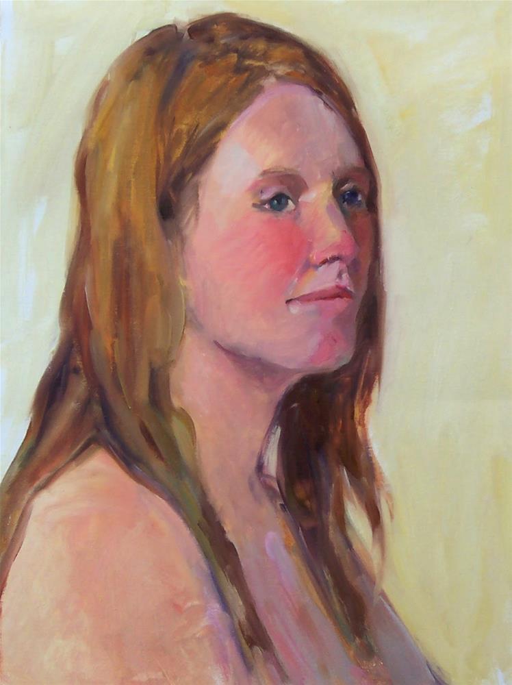 """Kari Model,portrait,oil on canvas pad,16x12,priceNFS"" original fine art by Joy Olney"