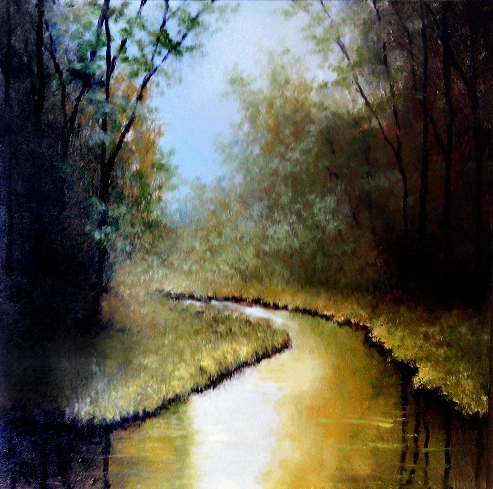"""The Bend"" original fine art by Bob Kimball"