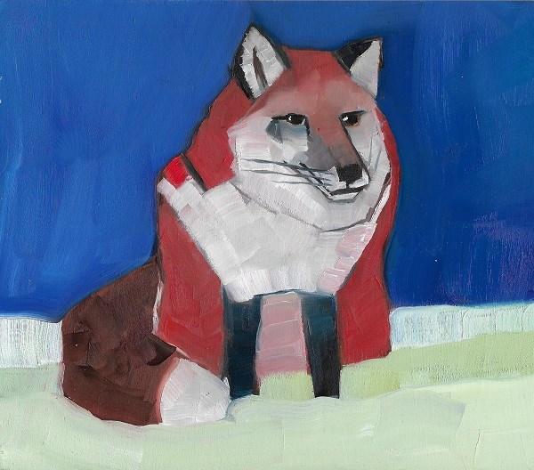 """""""Fox In Winter"""" original fine art by Elizabeth See"""