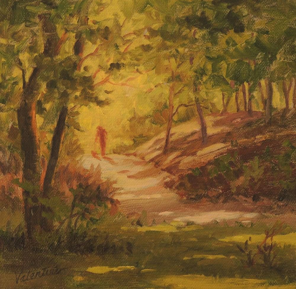 """""""Autumn Stroll"""" original fine art by Barbara Valentine"""