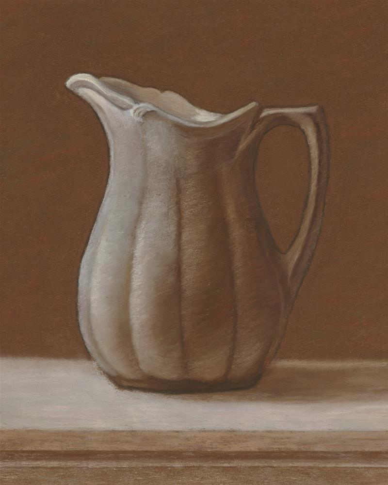 """Grandmother's Stoneware Pitcher"" original fine art by Susan Fern"