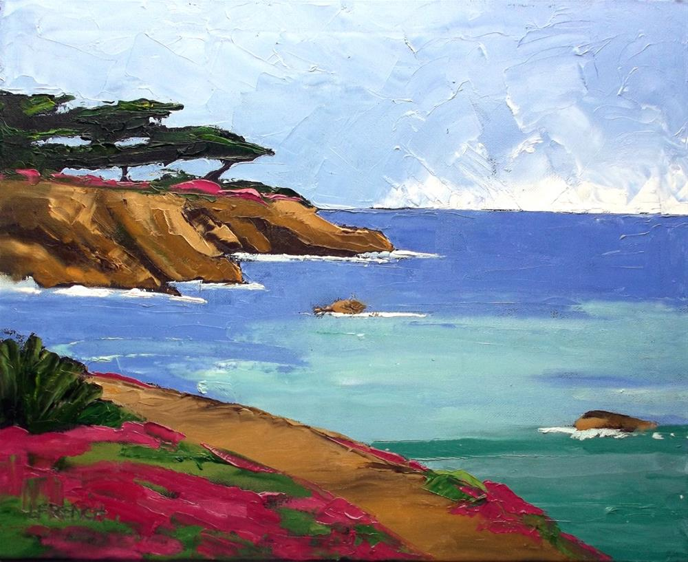 """Pacific Grove Monterey Bay"" original fine art by lynne french"