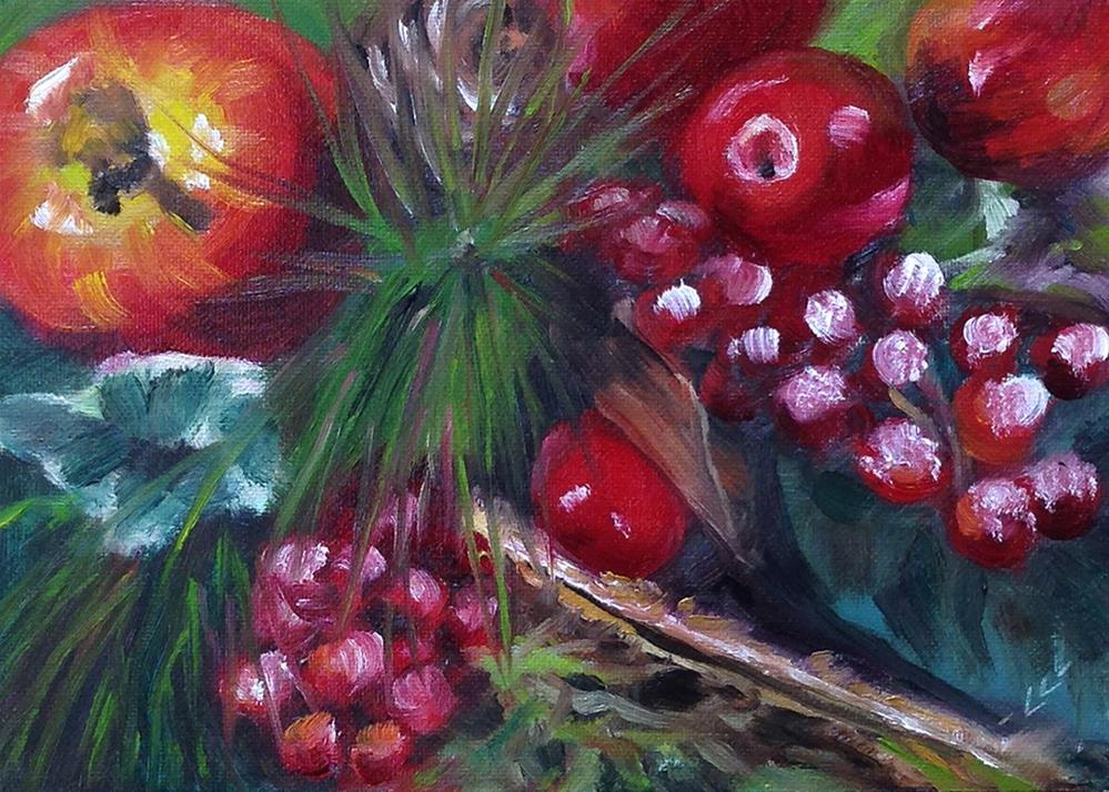"""Holiday Decorations"" original fine art by Linda Lowery"