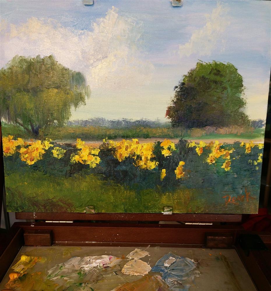 """Delta Sunflowers"" original fine art by Carol Roark"