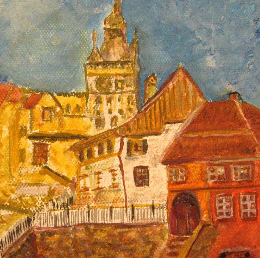 """Sighisoara"" original fine art by Alina Frent"