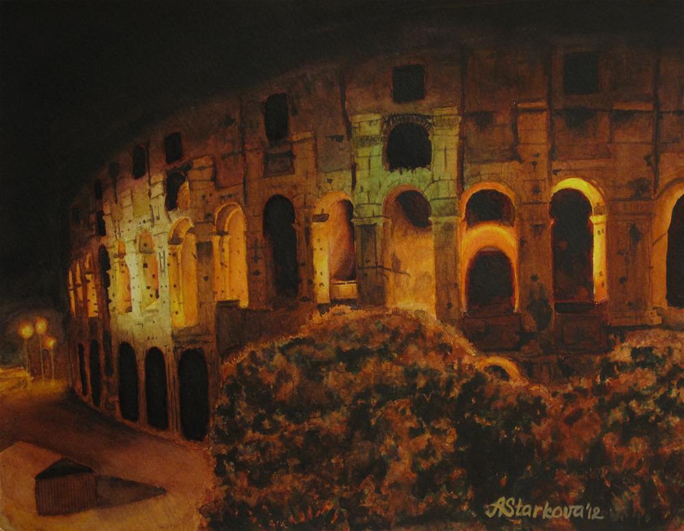 """In Rome - In Love"" original fine art by Anna Starkova"