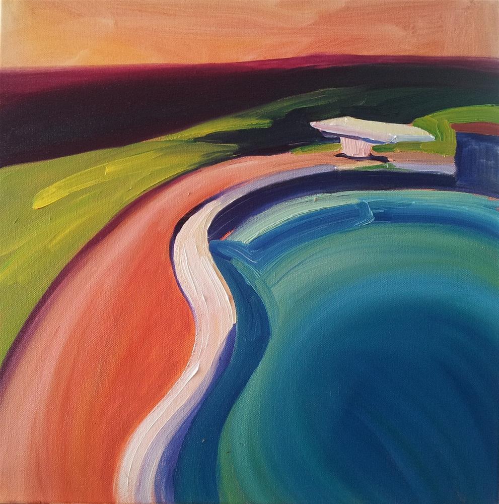 """""""Sherbert Delight"""" original fine art by Loralee Chapleau"""