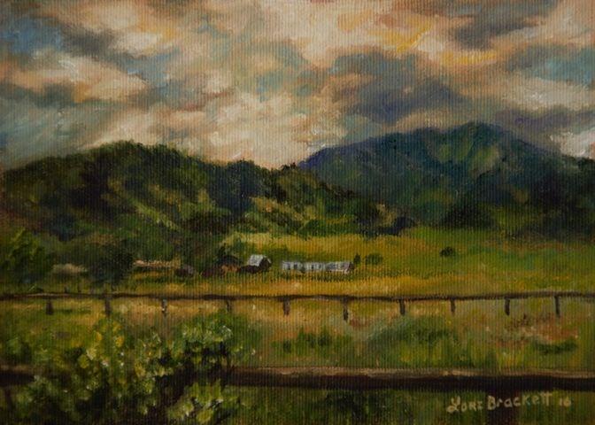 """Swan Valley Hillside"" original fine art by Lori Brackett"