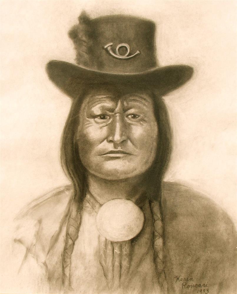 """Arapahoe Chief"" original fine art by Karen Roncari"