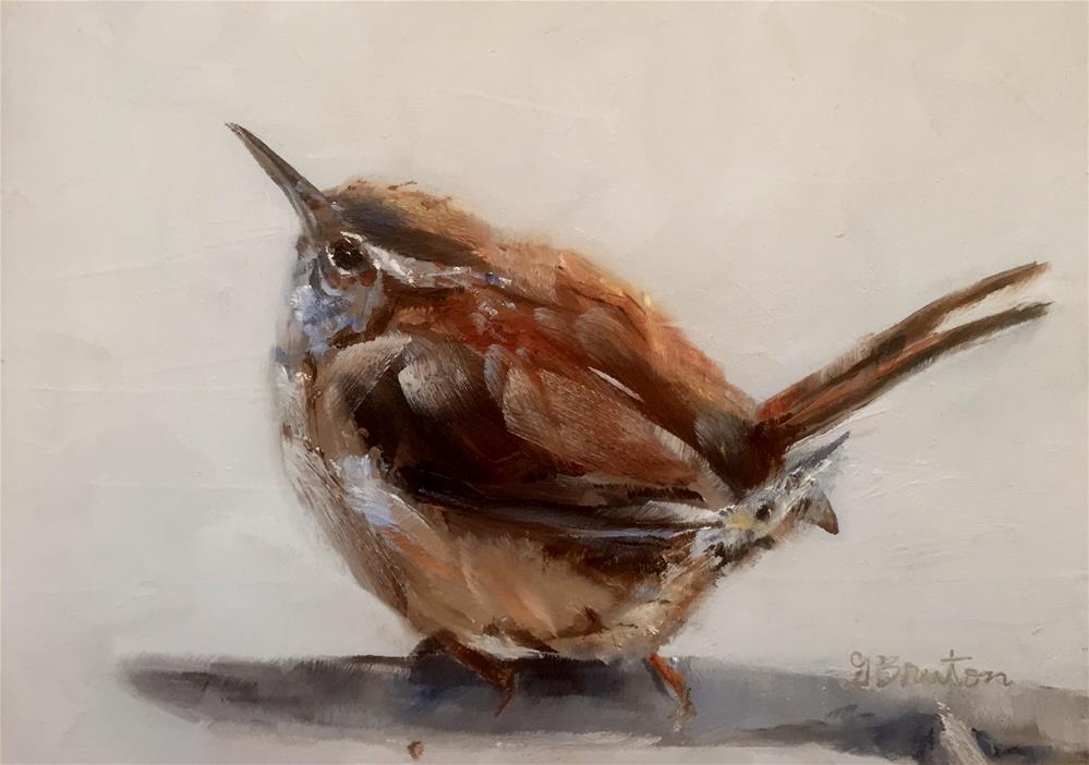 """Winter Day Wren"" original fine art by Gary Bruton"