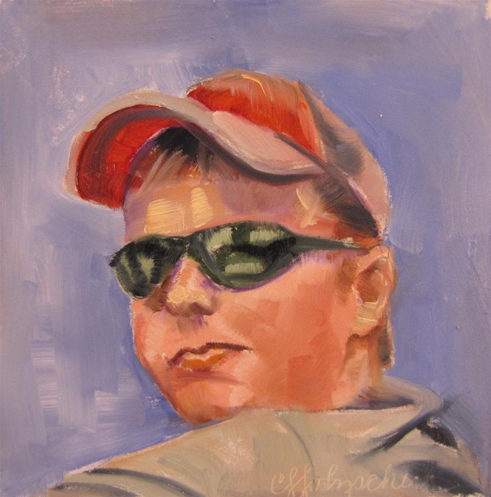 """""""Eddie   4x4  oil sold"""" original fine art by Christine Holzschuh"""