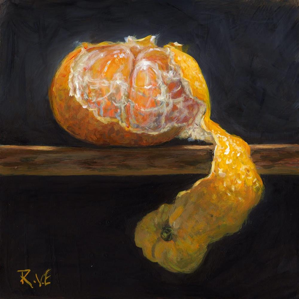 """Mandarin orange"" original fine art by Ruth Van Egmond"