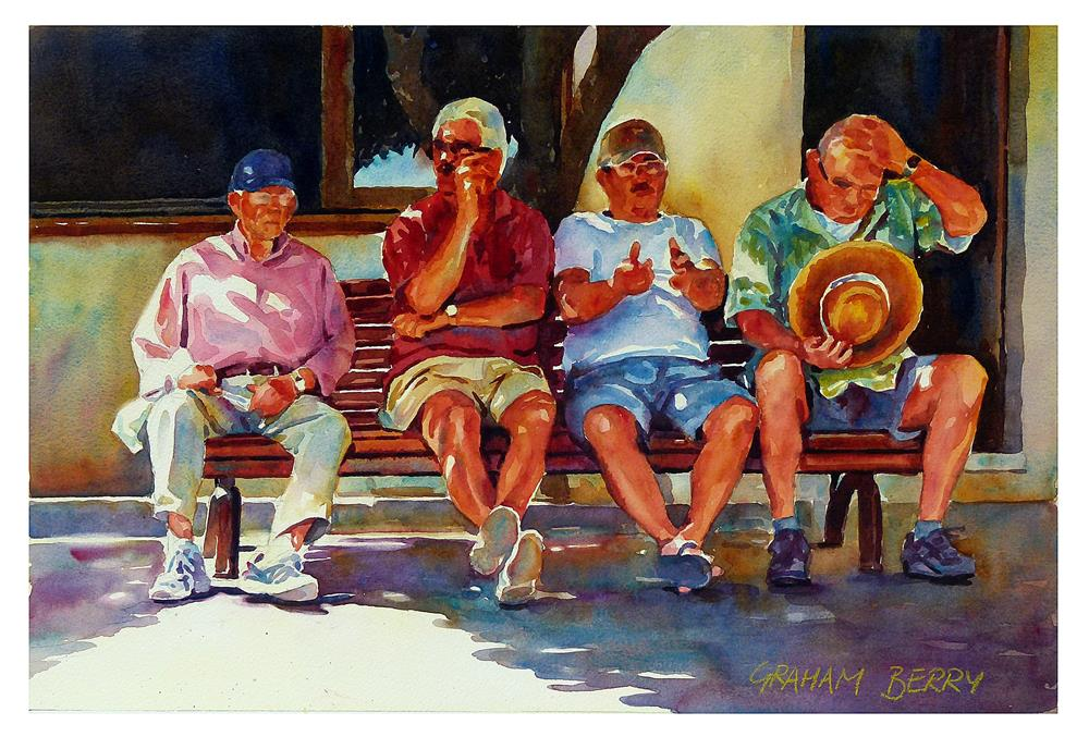 """Shady characters."" original fine art by Graham Berry"