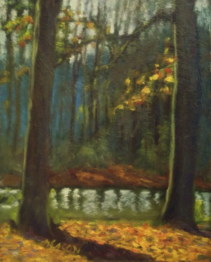 """By the waterside"" original fine art by Michael Sason"