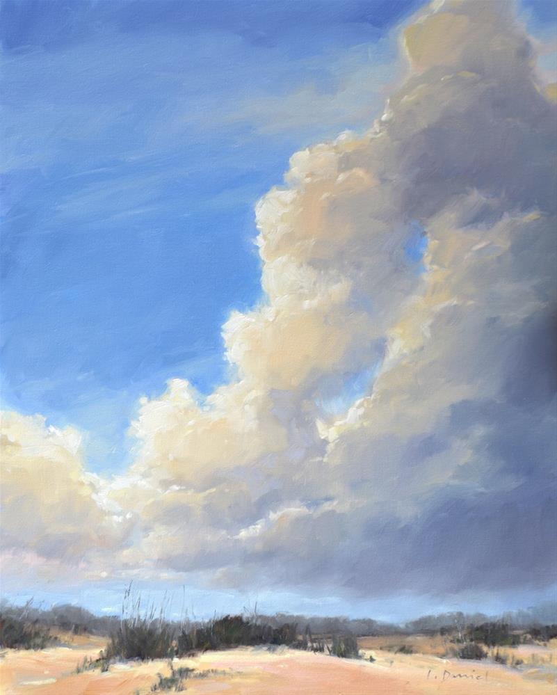 """""""Cascading Cloud Bank - Anderson Gallery Exhibit"""" original fine art by Laurel Daniel"""