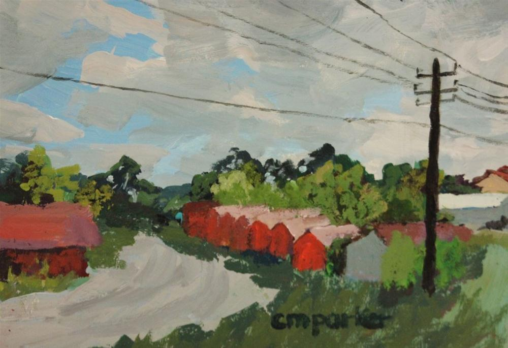 """Small Road in Vilnius"" original fine art by Christine Parker"