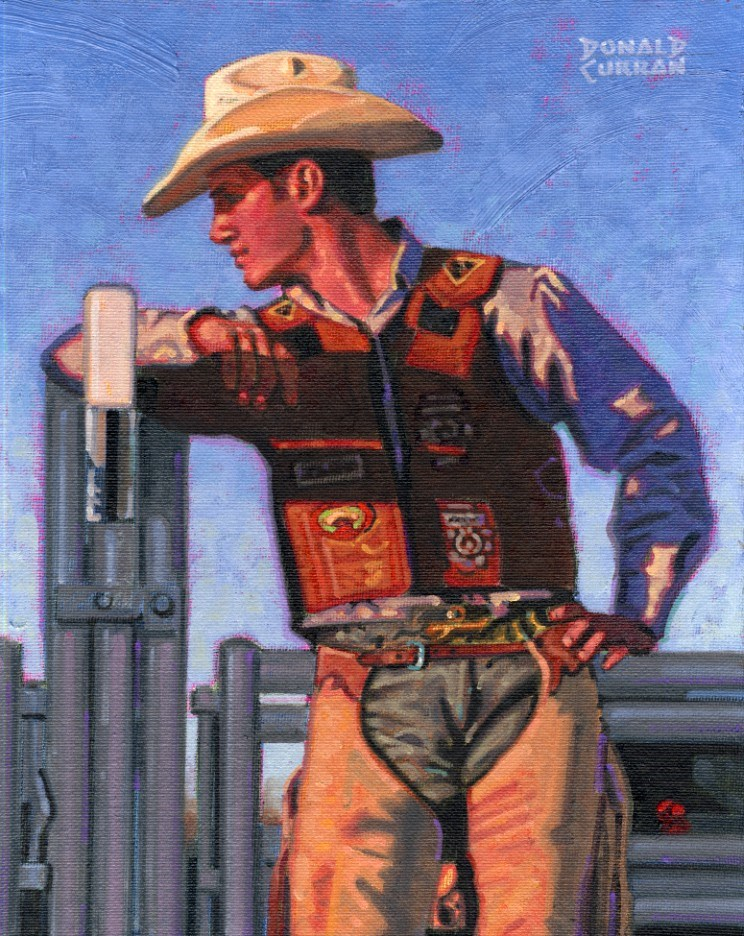 """Handsome Cowboy"" original fine art by Donald Curran"