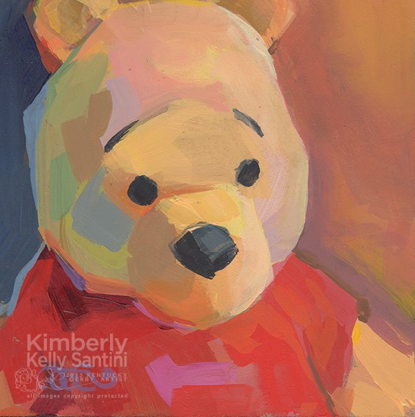"""More Pooh Bears"" original fine art by Kimberly Santini"