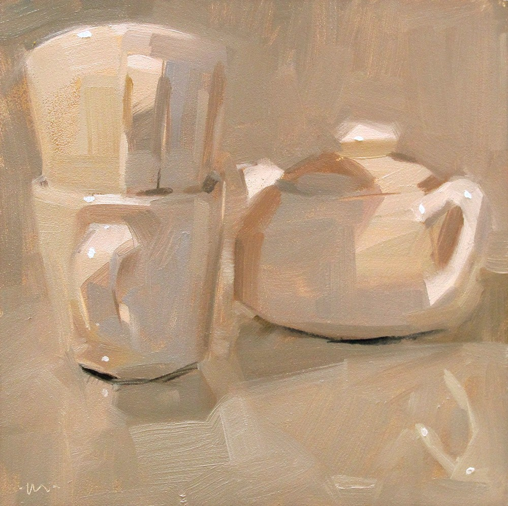 """Whites"" original fine art by Carol Marine"