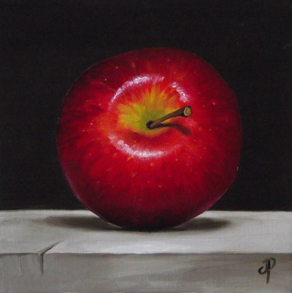 """Red Delicious & little cider apple"" original fine art by Jane Palmer"