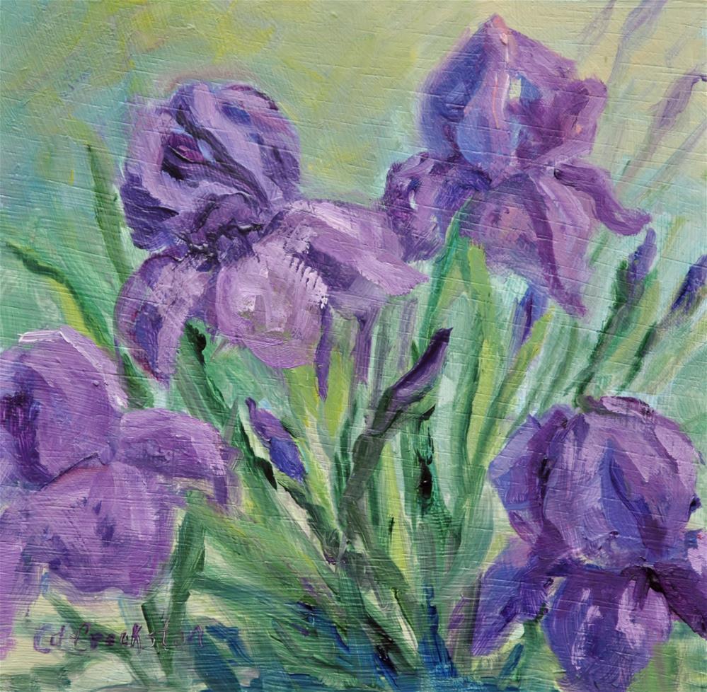 """Purple Life"" original fine art by Catherine Crookston"