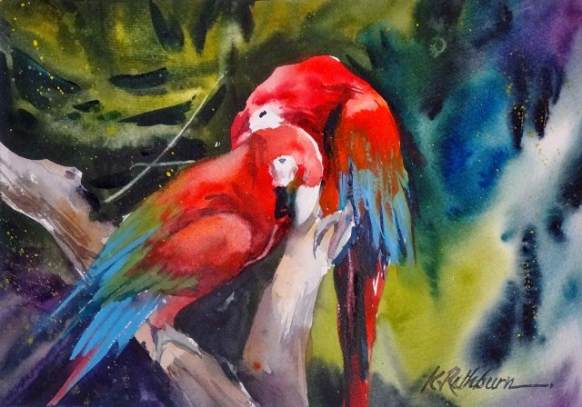 """Sharing Secrets"" original fine art by Kathy Los-Rathburn"