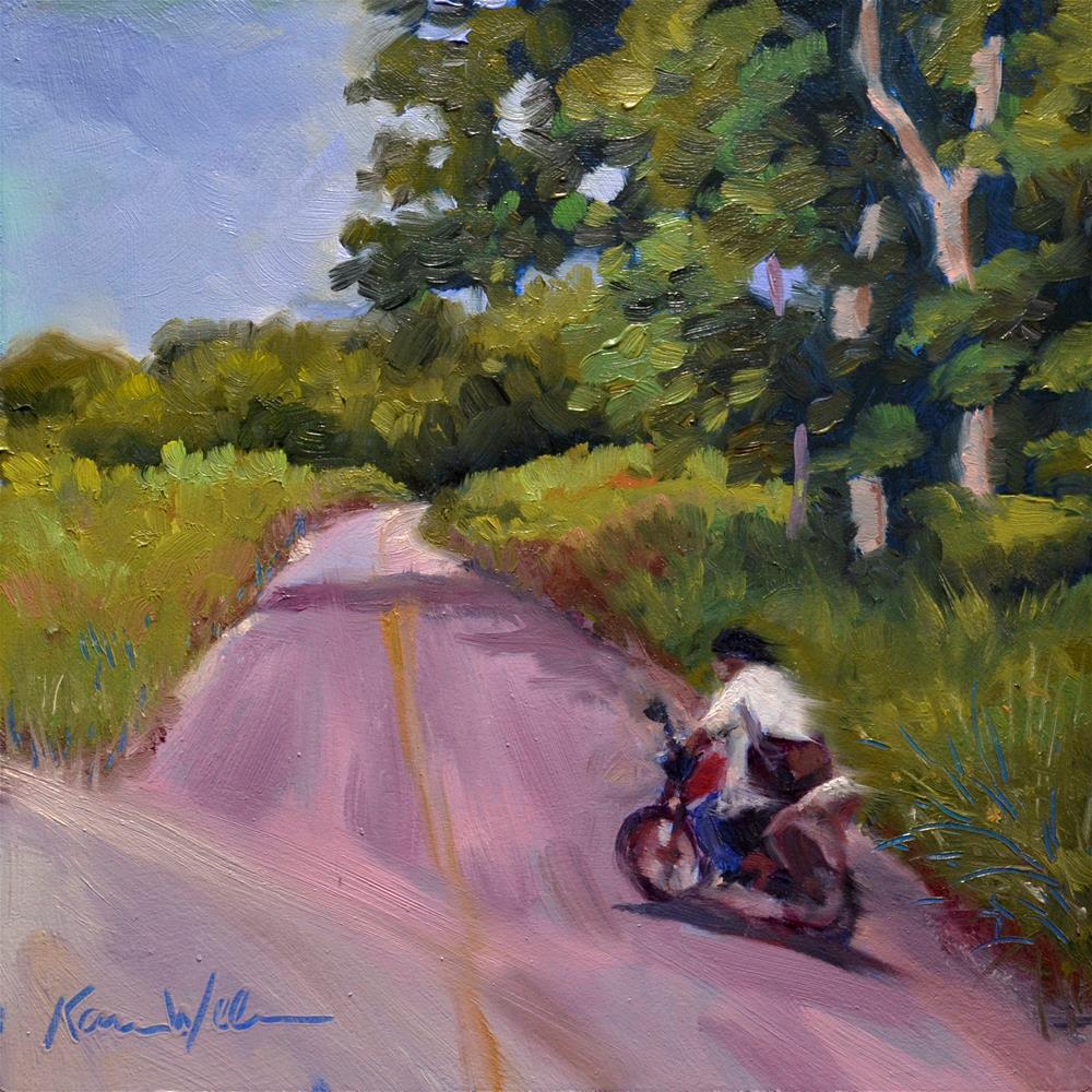 """Joyride"" original fine art by Karen Weber"