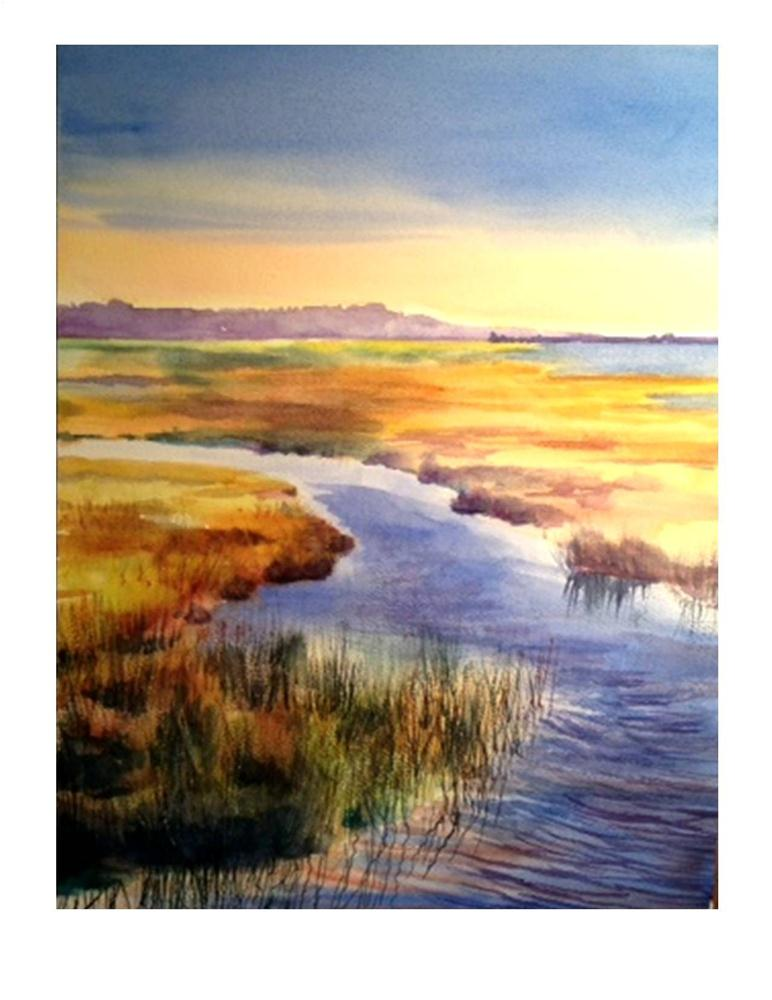 """Autumn Marsh II"" original fine art by Suzanne Woodward"