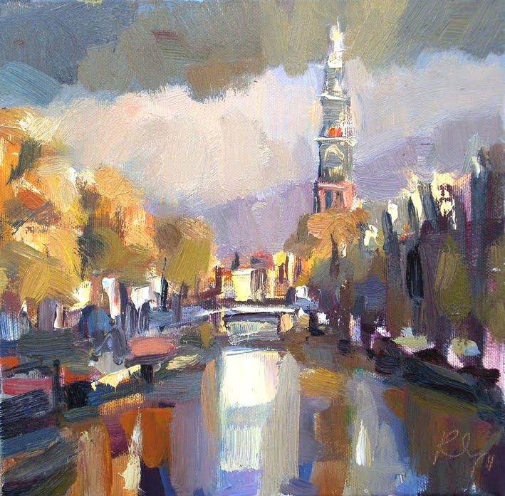 """""""Amsterdam in autumn"""" original fine art by Roos Schuring"""