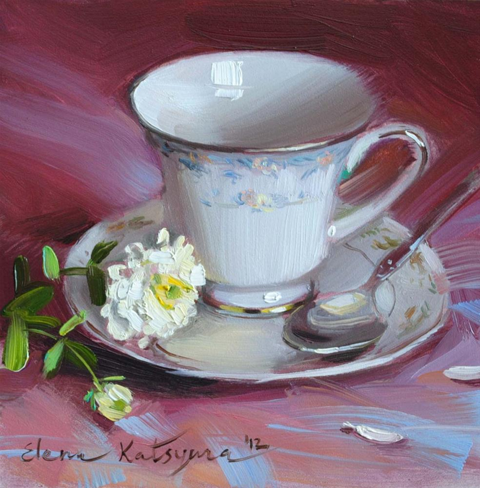 """Cup on Magenta"" original fine art by Elena Katsyura"